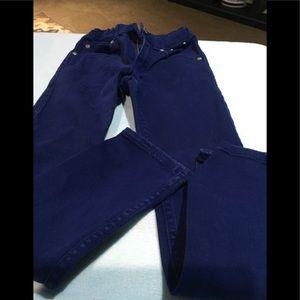 Boys blue denim jeans size 7 slim gymboree